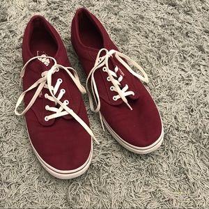 Van's Classic Maroon Sneakers Shoes, 11